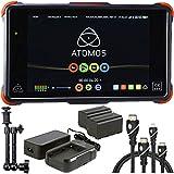 Atomos Ninja Flame 7'' 4K HDMI Recording Monitor, Atomos Power Kit for Shogun Ninja Inferno & Flame, 7'' Magic Arm, HDMI A-D BASIC 3' Cable and HDMI A-C Basic 3' Cable