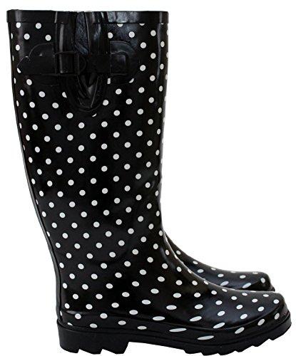 UK 8 Ladies H Wellies de 3 imperméables Nouveau pluie mollet A largeur Bottes cm 42 de Footwear qpPqwz
