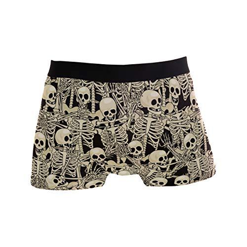 (Classic Men's Boxer Briefs Fun Skeletons Skull Fitness Underwear XL Mens Briefs Underwear Sport Size XL)