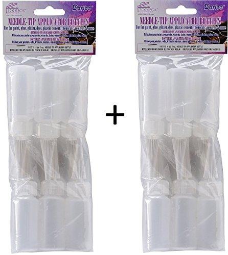 (Darice 1162-16-2PK Needle Tip Applicator Plastic Bottle, 1-Ounce, Pack of 12, White)