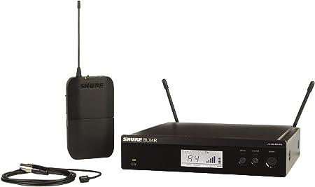 Amazon.com: Shure BLX14R/W93 Sistema de micrófono inalámbrico con Bodypack y WL93 Lavalier Mic: Musical Instruments