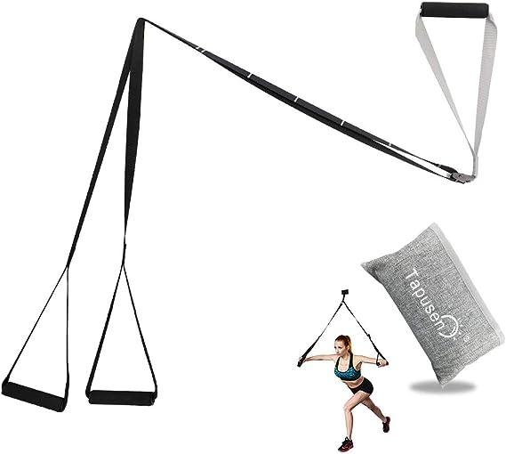 Tapusen Kit de Entrenamiento físico - Kit de Entrenamiento de suspensión Gimnasio Profesional Correas de Entrenamiento físico para Ejercicios de ...