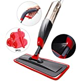 Aicehome Spray Mop, Floor Mop and Microfiber Mop with Integrated Spray and 360 Degree Rotation,Dry Wet Mop with 3 Free Reusable Microfiber Pads for Cleaning Hardwood, Laminate, Tile Floor