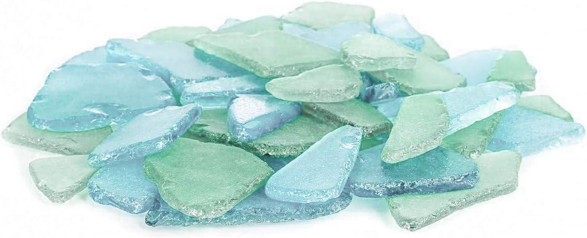 Nautical Crush Trading Sea Glass | Caribbean Blue & Green Colored Sea Glass Mix | 22 Ounces of Sea Glass for Art Crafts and Decor | Sea Glass Bulk