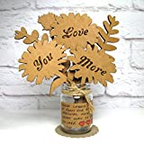 LOVE YOU MORE!!! Let someone know you win the argument with a corrugated bouquet. Each set comes with all you need to complete the arrangement seen in the pics. The flowers, mini mason jar, twine, felt doily and a kraft paper label to add a p...