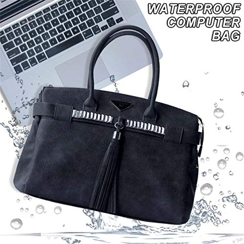 MAIDUDU Classic Casual Laptop Tote Bag for Women, Multifunctional Laptop Handbag and Travel Business Computer Purse for Laptops