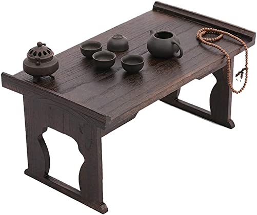 BYJCCAR Rustic Coffee Table, Wood and Folding Industrial Cocktail Table for Living Room,Japanese Antique Tea Table L 31.50 x17.32 x14.96