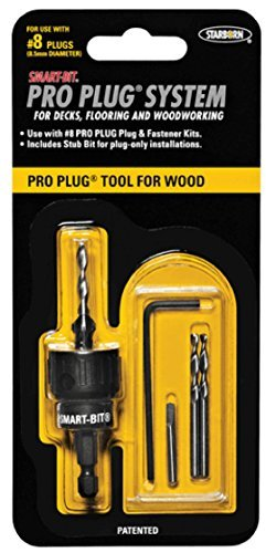 - Smart-Bit Pro Plug System Countersink Drill Bit Tool for Wood Decks, Flooring, and Woodworking