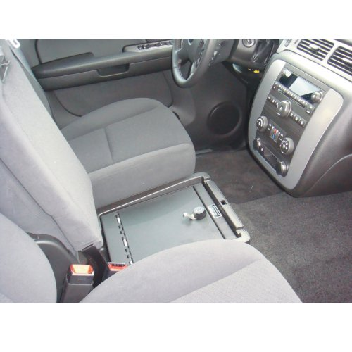 Console Vault Chevrolet Silverado LT1 / Avalanche LS - Under Seat 2008-2012 - 1014 - Massive 12 Gauge Cold Rolled Plate Steel, Welded Tab And Notch Seams - Superior 3 Point Locking System Resists Prying - Drill Resistant Locks - Easy 10 Minute Installation