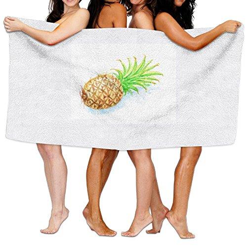 ダメージ受け継ぐ領事館ビーチバスタオル バスタオル パイナップル 風呂 海水浴 旅行用タオル 多用途 おしゃれ White