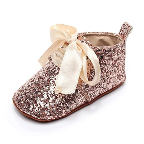 WOCACHI Baby Girls Shoes Infant Girls Sequins Bow Summer Sandals First Walkers Shoes Back to School Clearacne Sale Deal Gold