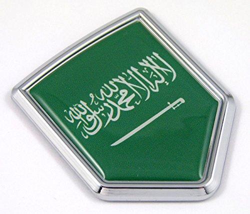 Saudi Arabia flag Chrome Emblem Car Decal Sticker Bike crest badge