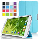 Mulbess - Samsung Galaxy Tab Pro 8.4 Slim Case Cover - Magnetic Leather Case Cover with Stand for Samsung Galaxy Tab Pro 8.4 Color Tiffany Blue