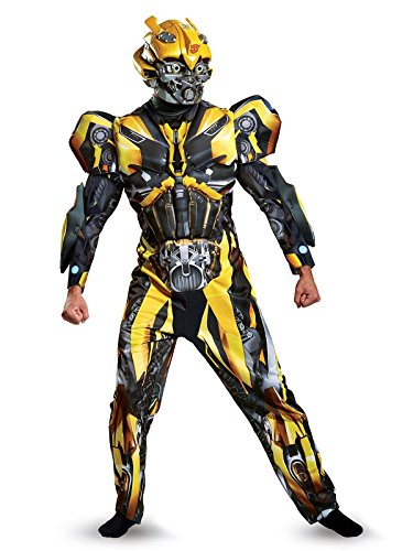 Disguise Men's Plus Size Bumblebee Movie Deluxe Adult Costume, Yellow, XX-Large]()