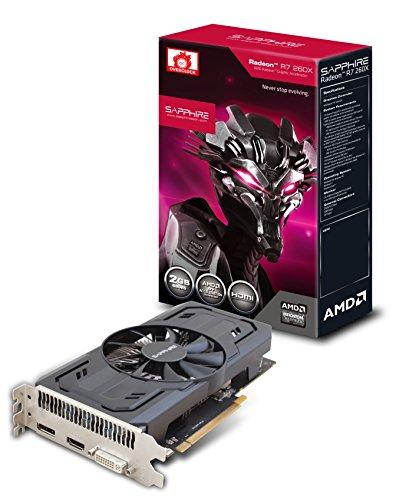 Sapphire Radeon R7 260X 2 GB GDDR5 HDMI/DVI-I/DP OC Version PCI-Express Graphics Card 11222-22-20G
