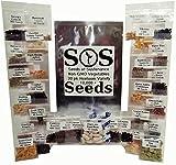 No-GMO paquete a granel de semillas - 30 variedades de hortalizas y melones