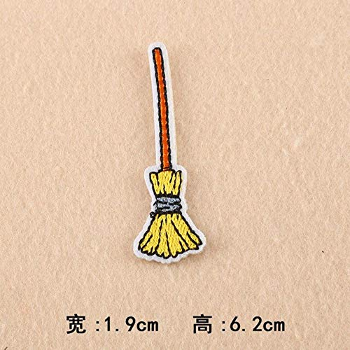 Patches for Clothes - Halloween Pumpkin Embroidery Patches for T-Shirt Iron on Skull Stripes Witch Appliques Clothes Stickers Ghost Clothing Badges (1-pcs-e-136)