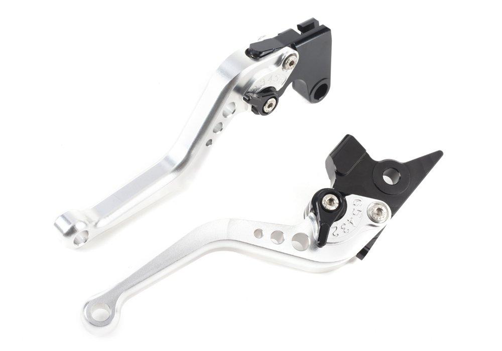 Motocicletta Breve Leve Freno e Frizione in CNC Alluminio Regolabile per moto sportiva YAMAHA FZ6 FAZER FZ1 FAZER FZ6R XJ6 DIVERSION FZ8 MT-07 MT-09//SR//FZ9 un paio F16//Y688 SPL077