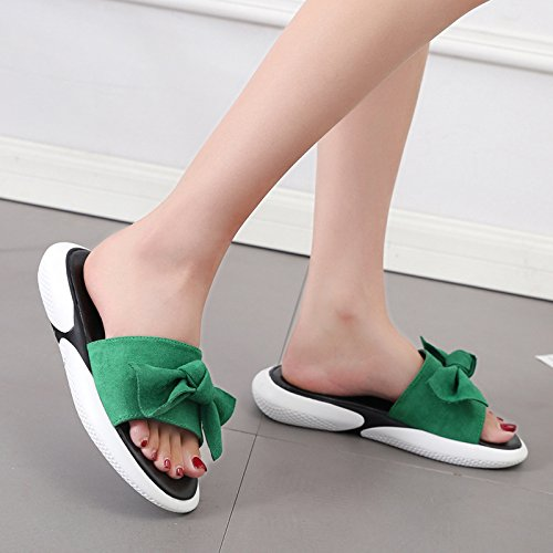 Casual Thick Simple Comfortable Cool Slippers Joker Bottom slippers Summer Black women WHLShoes Fabric 0HtqwExt8