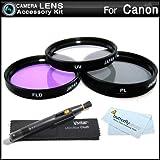 43mm Filter Kit For CANON VIXIA HF M52, HF M50, HF M500, HF R62, HF R60, HF R600, HF R700, HF R72, HF R70 Camcorder Includes 43mm Multi-Coated 3 PC Filter Kit (UV, CPL, FLD) + LensPen Cleaning Kit + More