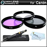 43mm Filter Kit For CANON VIXIA HF R800, HF R82, HF R80, HF R60, HF R600, HF R700, HF R72, HF R70 Camcorder Includes 43mm Multi-Coated 3 PC Filter Kit (UV, CPL, FLD) + LensPen Cleaning Kit + More