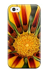 New Style Tpu 4/4s Protective Case Cover/ Iphone Case - Yellow Flowers