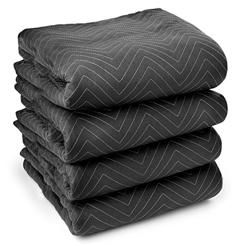 4 Ultra Thick Pro Moving Blankets 72 x 80