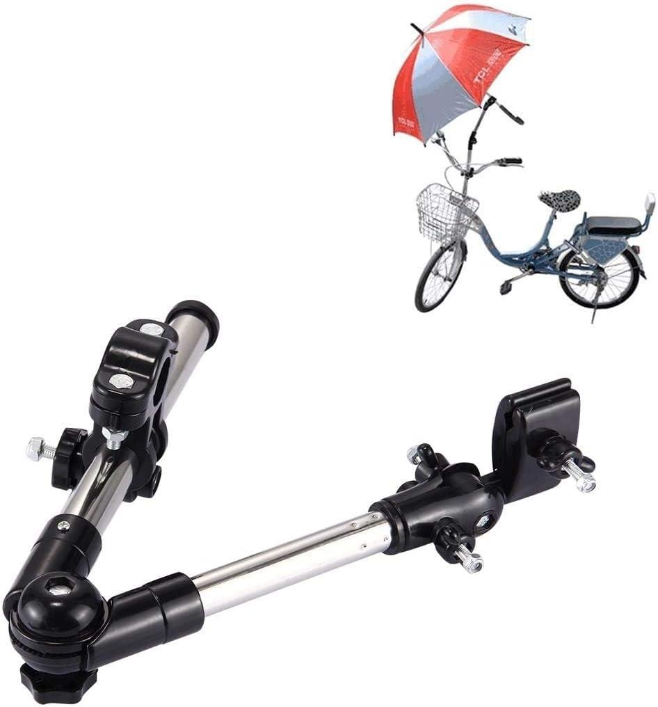 SOULBEST - Soporte universal para paraguas de bicicleta, soporte de marco para silla de ruedas, mango de sujeción ajustable para cochecito de ruedas, scooter carrito de golf