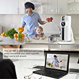 Amorvue 1080P Mini Wifi Camera,180-degree panoramic view fisheye lens 1.44mm Day&Night Vision Wireless Indoor Security Ip Camera with Two Way Audio,Plug and Play