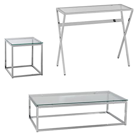 Amazoncom Holly Martin Decklyn Living Room Table Set Of - Cocktail end table sets