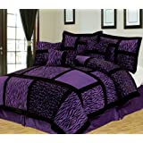 Empire Home Safari 7-Piece Comforter set- All Colors / All Sizes ON SALE Till End of The Month (Queen Size, Purple)