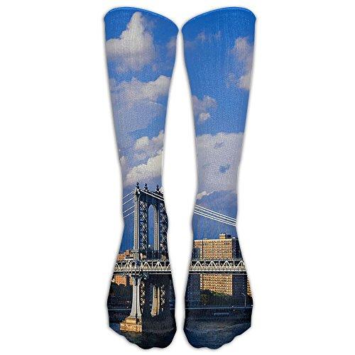 Brooklyn Bridge (2) Unisex Soft Long Socks Stockings Crazy Pattern Cotton Socks For Men Women (Christmas Stockimgs)