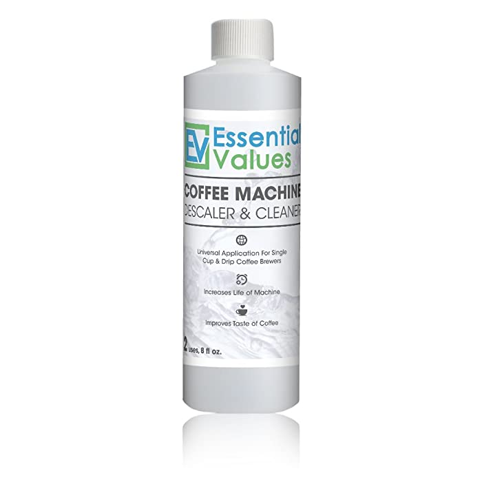 Descaling Solution For Keurig, Delonghi, Saeco, Gaggia, Nespresso And All Single Use, Coffee Pot & Espresso Machines By Essential Values