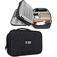 BUBM Double Layers Travel Gadget Organizer, Electronics Accessories Bag, Black