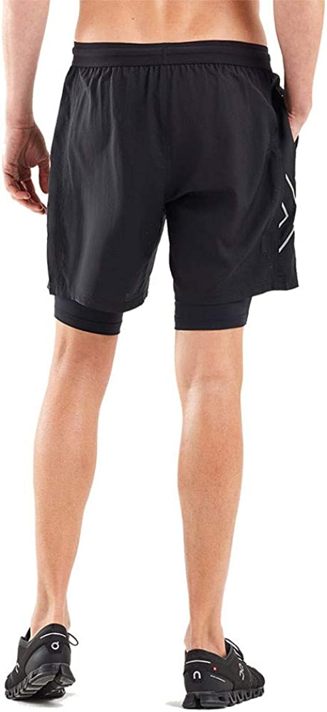 2XU XVENT 7 2 in 1 Compression Shorts SS20