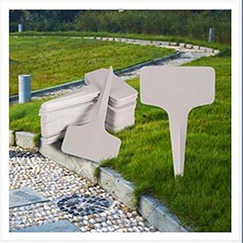 Xiton lote de 100 de jardín de plástico etiquetas de la etiqueta de Jardinería en Jardín Maternal Campo: Amazon.es: Hogar