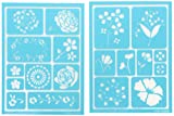 """Plaid:Craft Martha Stewart Adhesive Stencils 2 Sheets/Pkg-Blossoms 5.75""""X7.75"""" 19 Designs  Martha Stewart adhesive stencil, blossoms.  Use stencils to create beautiful painted designs on:  fabric  wood  glass  and other surfaces Contains 2 co..."""