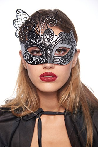 Cleopatra Masquerade Mask (Unisex; One Size Fits Most; (Cleopatra And Caesar Halloween Costumes)