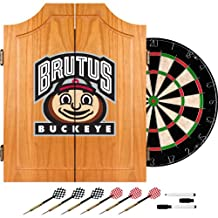 Trademark Poker LRG7000-OSU-BRUT Ohio State University Dart Cabinet Includes Darts and Board