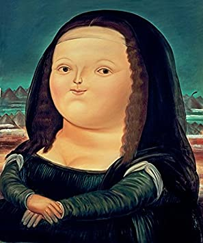 Your Canvas Creations Fernando Botero Mona Lisa Monalisa 24x30 Amazon De Home Kitchen