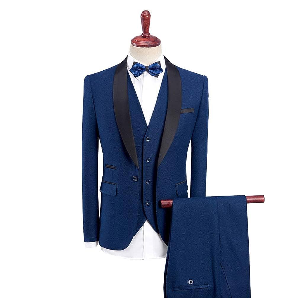 Musnow Mens Suits Tuxedo Wedding Suits 3 Pieces Tuxedos ...