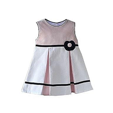 dca9bcf9623f74 Cute & Trendy Baby Piquet-Kleid Mädchen festlich Feier edel Faltenrock  schwarz rosa K16 (