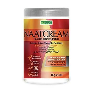 Nunaat Naat Hair Cream, Brazilian Keratin, 35.2 Ounce