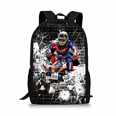 ThiKin Cool Racing Driver Boys Girls Personalized Kids School Bag