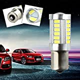 Daphot Store - P21W 1156 BA15S for 33 LED 5630 5730 SMD car Backup Reserve Lights auto light fog lamps 2pcs