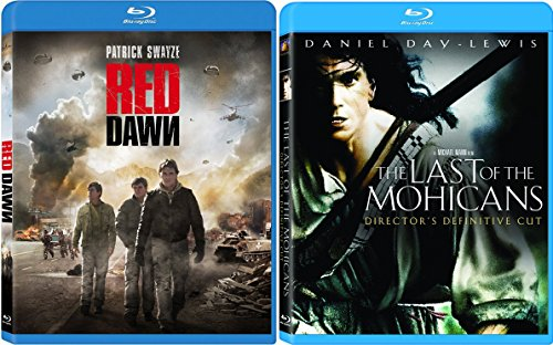 The Last of the Mohicans: Director's Definitive Cut & Red Dawn Blu Ray 2 Pack War Movie Action Set