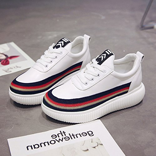 GUNAINDMX Shoes/Shoes/Shoes/Shoes/All-Match/Spring/Autumn And Winter,Thirty-Eight,White Blue