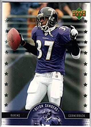uk availability 89cda c8de7 Amazon.com: Football NFL 2005 Upper Deck Legends #18 Deion ...