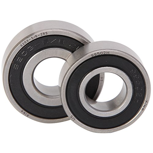 XiKe 2 Pack Bearings Replace Lawn Mower Spindle Murray 24384,20551, 90905, 92574, 492574, 55962, 455962. 6203-5/8-2RS and 99502H.