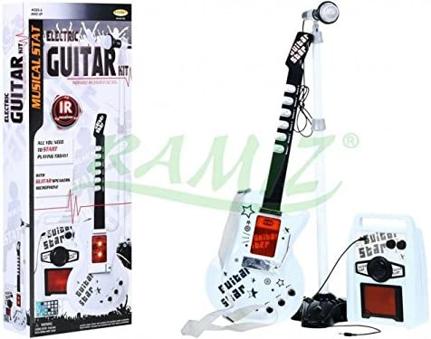 Guitarra Eléctrica de Juguete - Guitarra Micrófono Amplificador ...